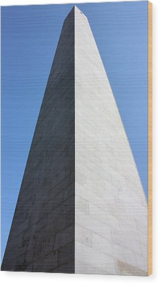 Bunker Hill Monument Wood Print by Kristin Elmquist