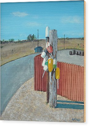 Buoys On A Pole Wood Print