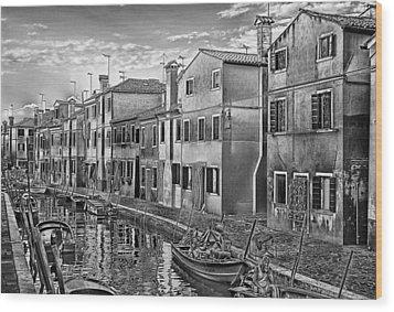 Burano 3 Wood Print by Mauro Celotti