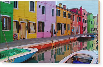 Wood Print featuring the photograph Burano by Barbara Walsh