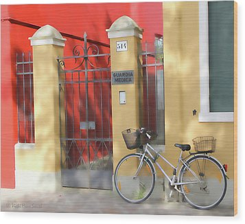 Burano Bicyle Doctor Wood Print