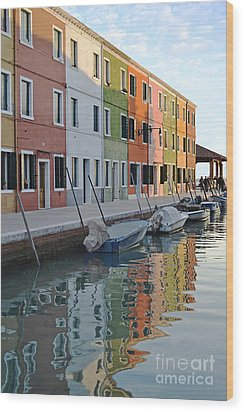 Wood Print featuring the photograph Burano Canal by Rebecca Margraf