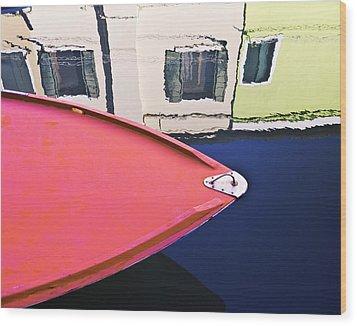 Burano Colorful Art  #1 - Burano Venice Italy Fine Art Photography Wood Print by Artecco Fine Art Photography