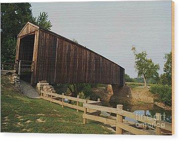 Burford Covered Bridge Wood Print by Julie Clements