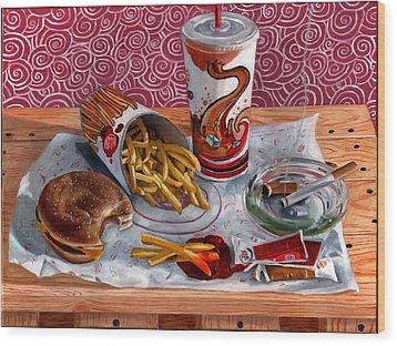 Burger King Value Meal No. 3 Wood Print by Thomas Weeks