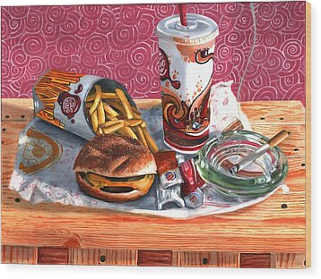 Burger King Value Meal No. 4 Wood Print