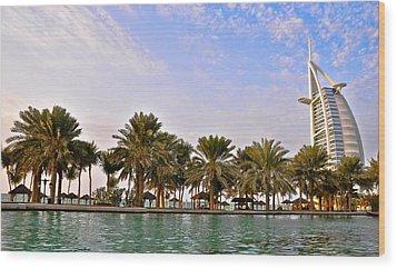 Burj Al Arab Dubai Uae Wood Print by Anusha Hewage
