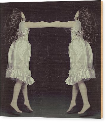 Burlesque Twins Wood Print by Tove Jessica Frank