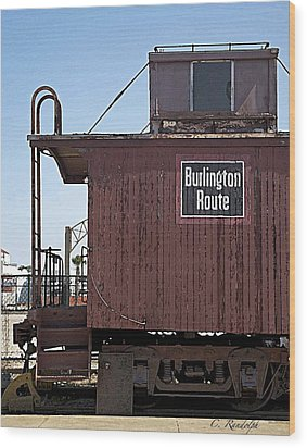 Wood Print featuring the photograph Burlington Route by Cheri Randolph
