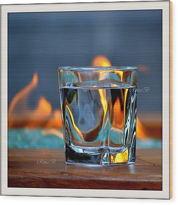 Wood Print featuring the photograph Burning Bliss by Rima Biswas