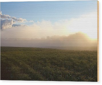 Burning Fog Wood Print by Tim Fitzwater