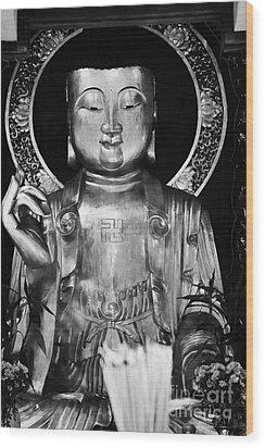 Burning Incense In A Buddhist Temple Sha Tin Hong Kong China Wood Print by Joe Fox