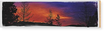 Wood Print featuring the photograph Burning Sunrise by Janie Johnson