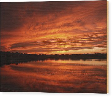 Wood Print featuring the photograph Burning Water by Bill Lucas