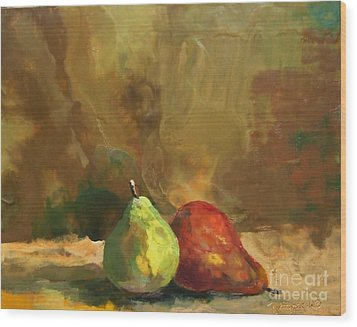 Burnished Pears Wood Print by Ruth Stromswold