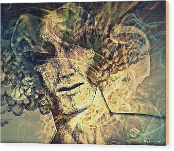 Burnout Syndrome Of The Resign Yourself Wood Print by Paulo Zerbato