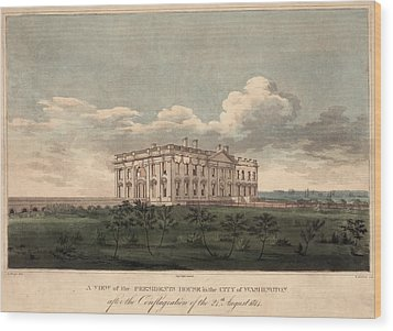 Burnt Out White House. A View Wood Print by Everett