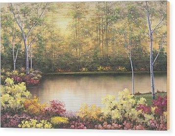 Bursting In Autumn Wood Print by Diane Romanello
