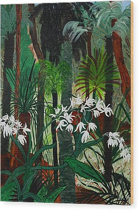 Wood Print featuring the painting Bush Beauty by Judi Goodwin
