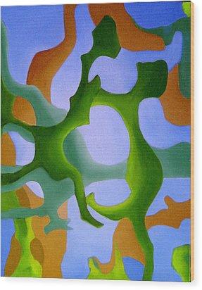 Bush Tango 12 Wood Print by Giro  Tavitian