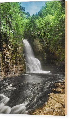 Bushkill Waterfalls Wood Print by Yhun Suarez