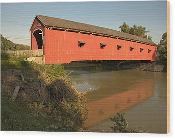 Wood Print featuring the photograph Buskirk Covered Bridge by Steven Richman