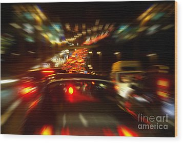 Busy Highway Wood Print by Carlos Caetano