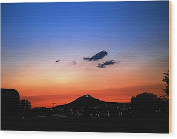 Butte Montana Sunset Wood Print by Kevin Bone