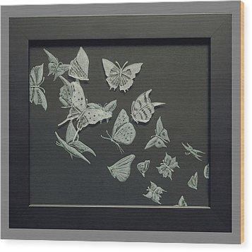 Butterflies Wood Print by Akoko Okeyo