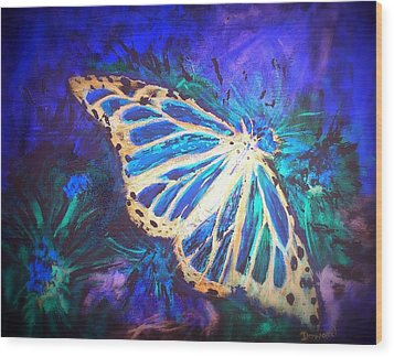 Wood Print featuring the mixed media Butterfly Beauty 2 by Raymond Doward