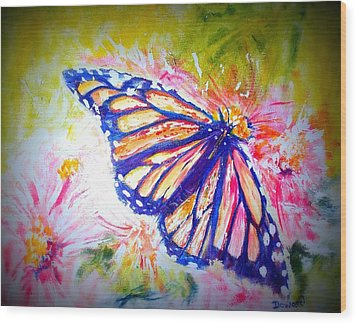 Butterfly Beauty 3 Wood Print by Raymond Doward