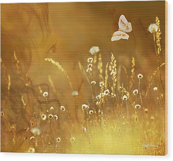 Butterfly Kiss Wood Print by Torie Tiffany