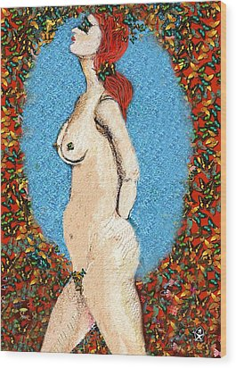 Butterfly Naked Lady Wood Print by Ion vincent DAnu