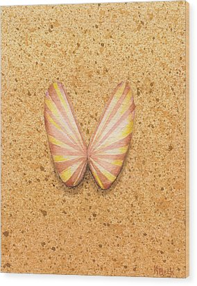Butterfly Sea Shell Wood Print