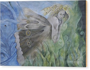 Butterfly Woman Costa Rica Wood Print by Bob Christopher