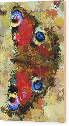 Butterfly Wood Print by Yury Malkov