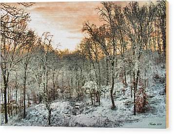 By Dawn's Early Light Wood Print by Kristin Elmquist