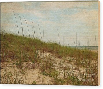 By The Sea Wood Print by Judi Bagwell