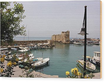 Byblos Waterfront Wood Print by Tia Anderson-Esguerra