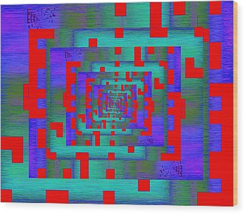Byte Byway Wood Print by Tim Allen