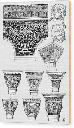 Byzantine Ornament Wood Print by Granger