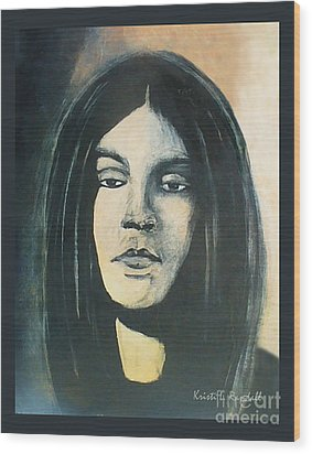 C. J. Ramone The Ramones Portrait Wood Print by Kristi L Randall