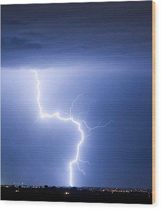 C2g Lightning Strike Wood Print by James BO  Insogna