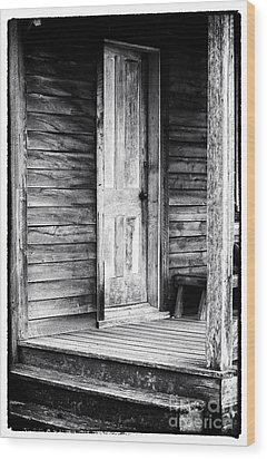 Cabin Door Wood Print by John Rizzuto