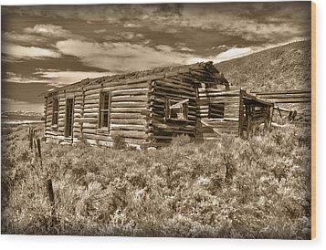 Cabin Fever Wood Print by Shane Bechler