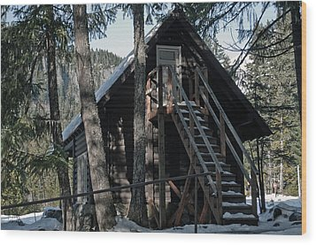 Cabin Get Away Wood Print by Tikvah's Hope