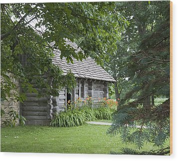 Cabin In The Woods - Little House Wayside Wood Print