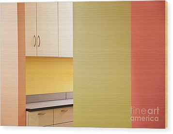 Cabinets In An Office Supply Room Wood Print by Jetta Productions, Inc