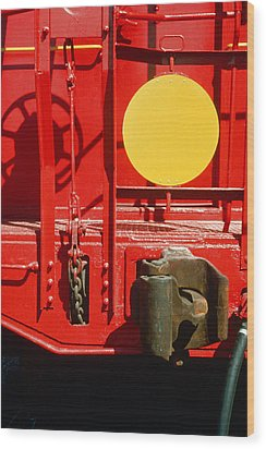 Caboose Wood Print by Jan W Faul