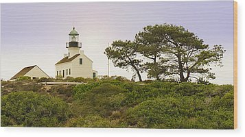 Wood Print featuring the photograph Cabrillo National Park Lighthouse by MaryJane Armstrong